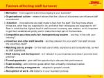 factors affecting staff turnover