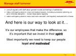 manage staff turnover