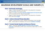 millenium development goals and targets 1