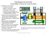 fpix readout for pilot disk using tbm8 and aluminum readout cables