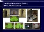 example of augmented reality case 1 multi projector