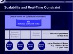 scalability and real time constraint