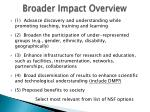 broader impact overview