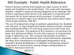 nih example public health relevance