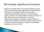 nih example significance innovation1