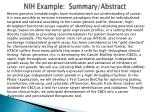 nih example summary abstract1