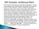 nsf example intellectual merit