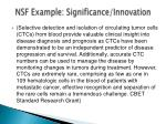 nsf example significance innovation1