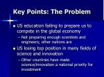 key points the problem