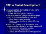 sbe in global development