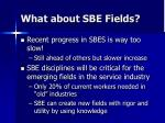 what about sbe fields