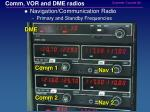 comm vor and dme radios