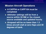 mission aircraft operations
