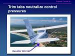trim tabs neutralize control pressures