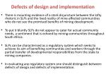 defects of design and implementation