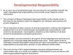 developmental responsibility