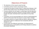 objectives of projects