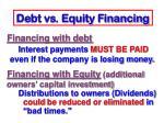 debt vs equity financing1