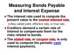 measuring bonds payable and interest expense