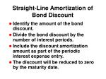 straight line amortization of bond discount