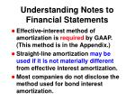 understanding notes to financial statements