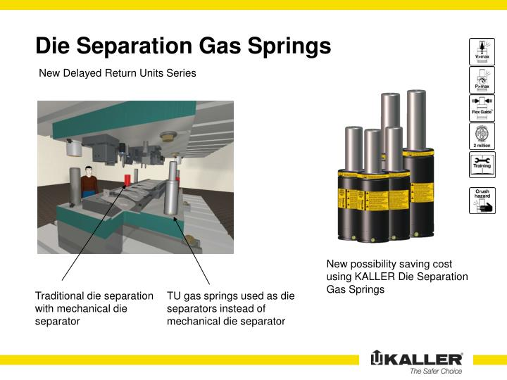 die separation gas springs n.