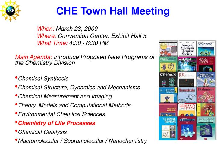 CHE Town Hall Meeting