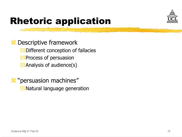 Rhetoric application