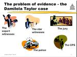 the problem of evidence the damilola taylor case