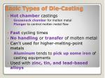 basic types of die casting