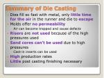 summary of die casting