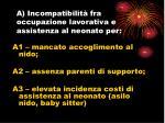 a incompatibilit fra occupazione lavorativa e assistenza al neonato per