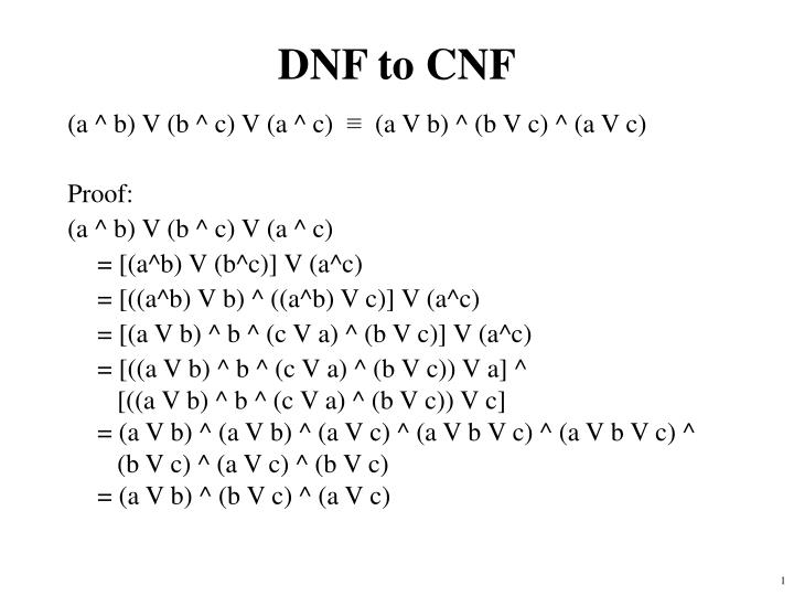 dnf to cnf n.