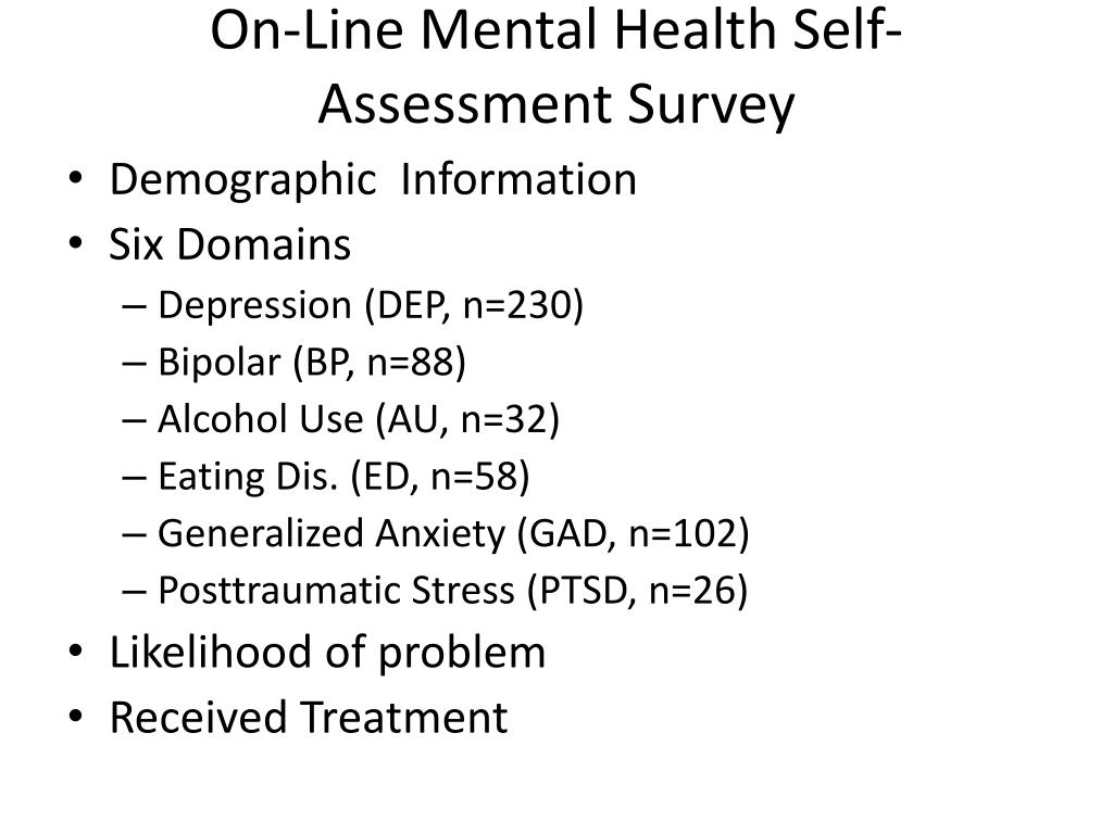Ppt Treatment For Depression As A Gateway For Assessment And Treatment Of Other Co Morbidities Powerpoint Presentation Id 5623239