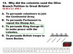 14 why did the colonists send the olive branch petition to great britain ss 08 2 3 2 dok 2