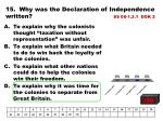 15 why was the declaration of independence written ss 08 1 3 1 dok 2