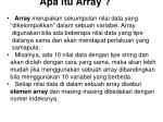 apa itu array