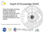 depth of knowledge dok