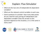 explain flux simulator