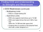 finding dos and understanding its strengths and weaknesses6