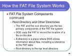 how the fat file system works3