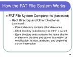how the fat file system works4