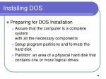 installing dos1