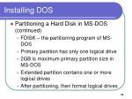 installing dos3