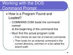 working with the dos command prompt4