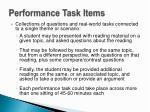 performance task items