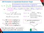 dis formalism on unpolarized deuterium target