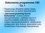 dokumenty programowe oei cz i