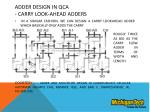 adder design in qca carry look ahead adders