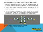 advantages of quantum dot technology